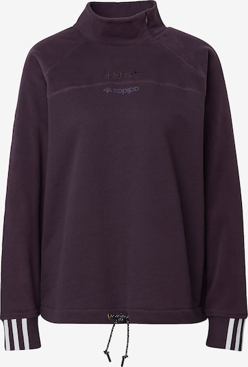 ADIDAS ORIGINALS Sweat-shirt en violet foncé / blanc, Vue avec produit