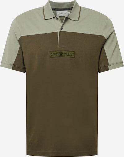 Calvin Klein Shirt in de kleur Olijfgroen / Pastelgroen, Productweergave