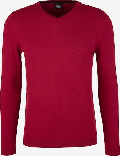 s.Oliver BLACK LABEL Pullover in rot: Frontalansicht