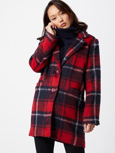Hailys Mantel 'Semy' in rot / schwarz / weiß, Modelansicht