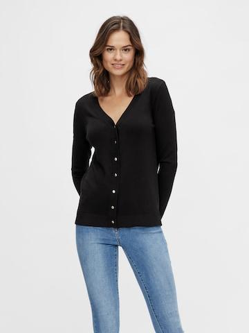 VILA Knit Cardigan 'Jeneve' in Black
