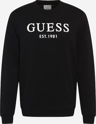 GUESS Sweatshirt 'BEAU' in black / white, Item view