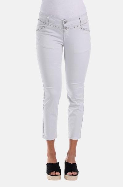 Blue Monkey 7/8 Jeans Sandy in weiß, Modelansicht