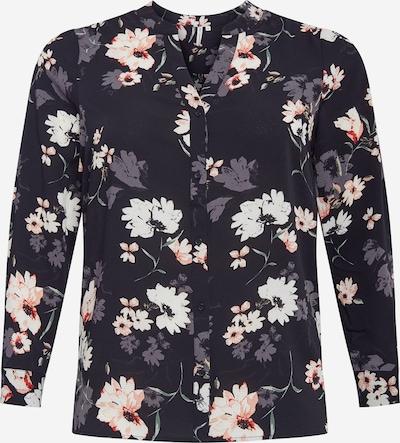 ONLY Carmakoma Blouse 'LUXMAJA' in de kleur Gemengde kleuren / Zwart, Productweergave