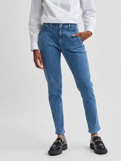 Jeans 'SLFTUNJA' SELECTED FEMME pe albastru, Vizualizare model