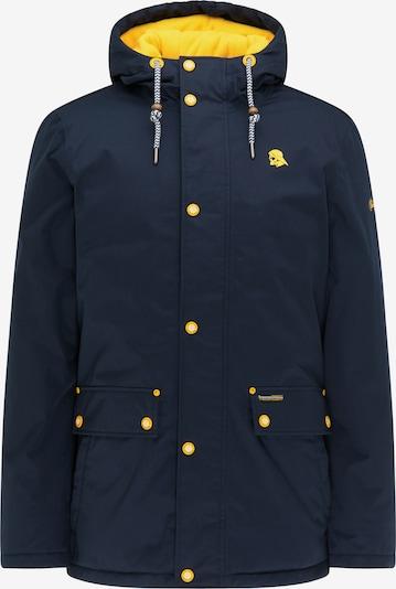 Schmuddelwedda Winterjas in de kleur Navy / Geel, Productweergave