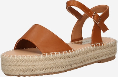 Sandale GLAMOROUS pe maro, Vizualizare produs