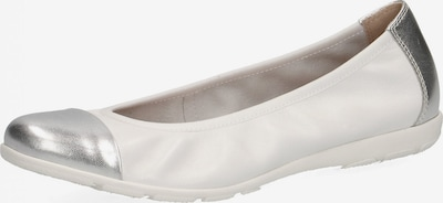 CAPRICE Ballerinas in silber / weiß, Produktansicht