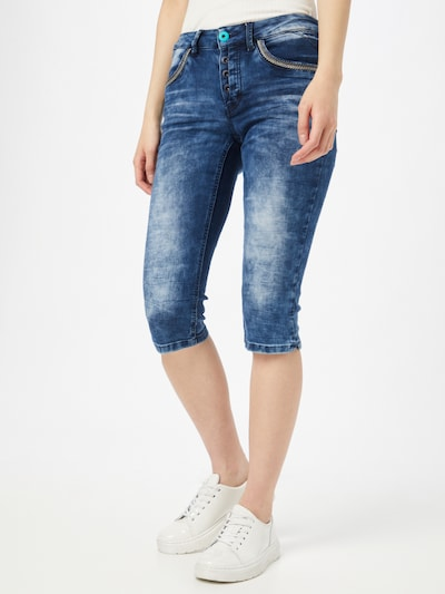 Soccx Shorts 'LY:LI' in blue denim, Modelansicht