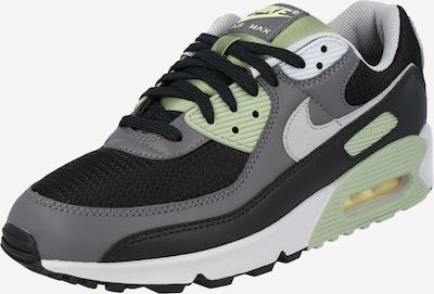 Nike Sportswear Nizke superge 'Air Max 90' | siva / zelena barva: Frontalni pogled