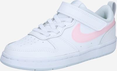 Nike Sportswear Superge 'COURT BOROUGH' | svetlo roza / bela barva: Frontalni pogled