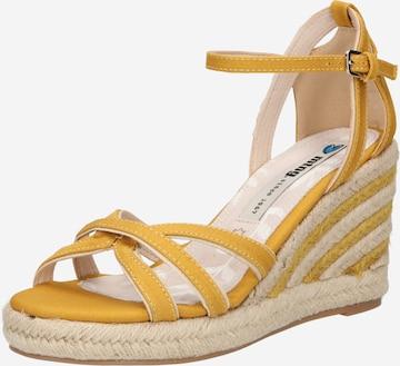 MTNG Sandalen met riem 'LOUISA' in Geel