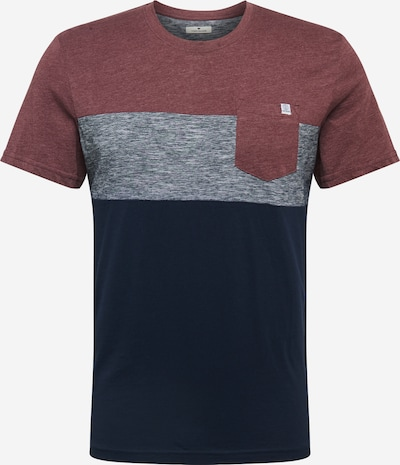 TOM TAILOR T-Shirt in marine / graumeliert / rotmeliert, Produktansicht