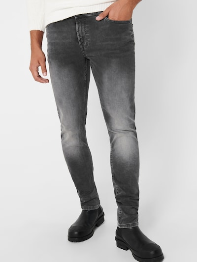Only & Sons Jeans 'LOOM' in grey denim: Frontalansicht
