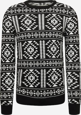 TOM TAILOR DENIM Pullover in Weiß