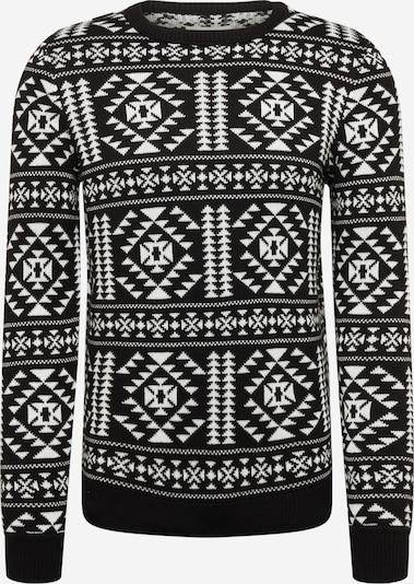 TOM TAILOR DENIM Sweater in Black / White, Item view