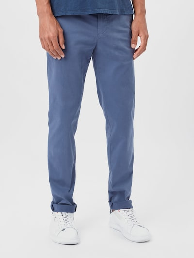 TOMMY HILFIGER Chino kalhoty 'BLEECKER TH FLEX SATIN CHINO GMD' - indigo, Model/ka