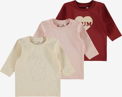 NAME IT T-Shirt en mastic / rose / rouge, Vue avec produit