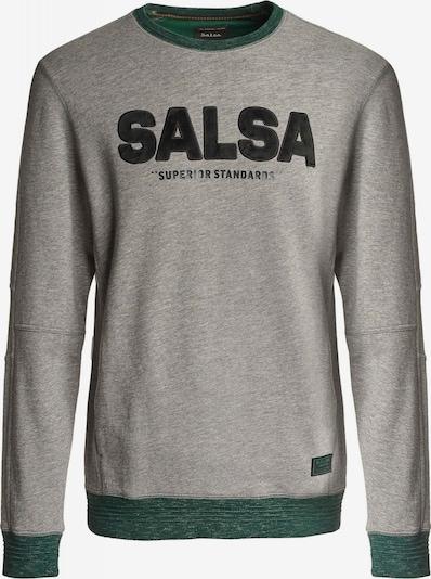 Salsa Shirt 'LOS ANGELES' in grau / dunkelgrün / schwarz, Produktansicht