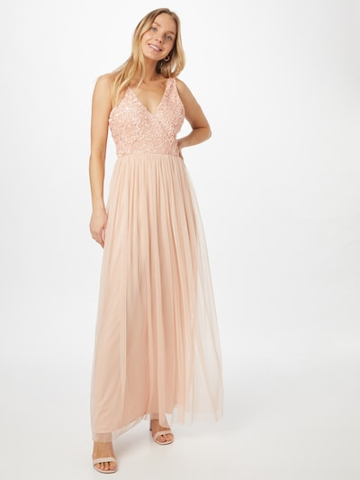 LACE & BEADS Kleid 'Abriella' in nude, Modelansicht