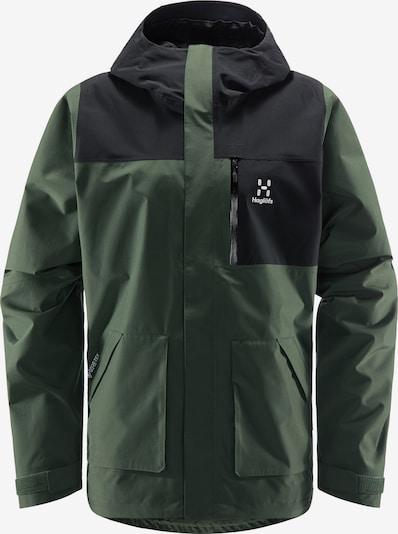 Haglöfs Outdoorjacke 'Vide GTX' in dunkelgrün / schwarz, Produktansicht