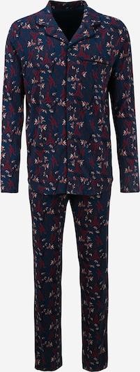 sötétkék / piros / fekete / fehér SCHIESSER Hosszú pizsama, Termék nézet