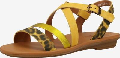 Paul Green Sandale in gelb / schwarz, Produktansicht