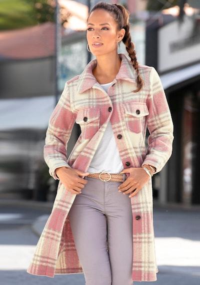 LASCANA Mantel in beige / pink, Modelansicht
