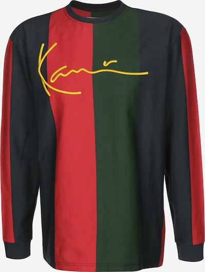 Karl Kani Longsleeve 'Signature Stripe' in dunkelblau / khaki / rot, Produktansicht