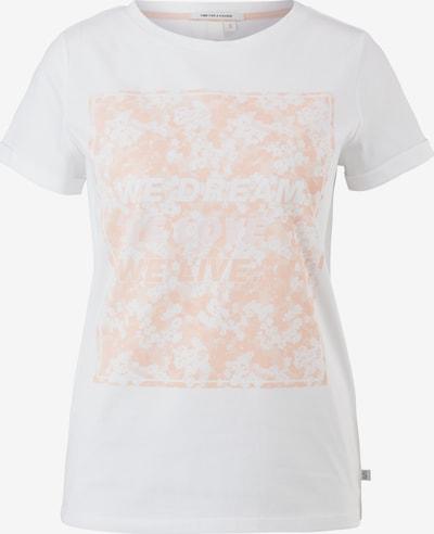 Q/S designed by T-shirt en orange / blanc, Vue avec produit