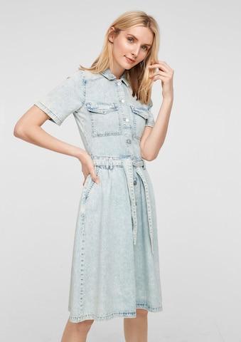 s.Oliver Shirt Dress in Blue