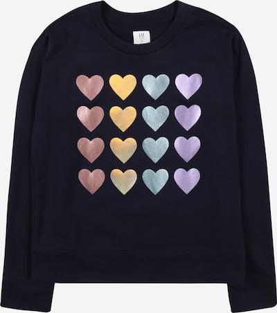 GAP Sweatshirt 'V-JAN' in navy / gold / mint / lila / rosé, Produktansicht