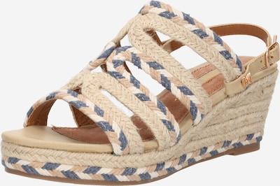 MARIAMARE Páskové sandály 'ILSA' - béžová / námořnická modř / barva bílé vlny, Produkt