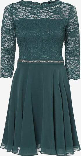 SWING Abendkleid in dunkelgrün / silber, Produktansicht