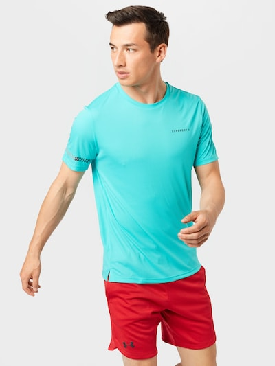 Superdry Funkcionalna majica   modra barva: Frontalni pogled