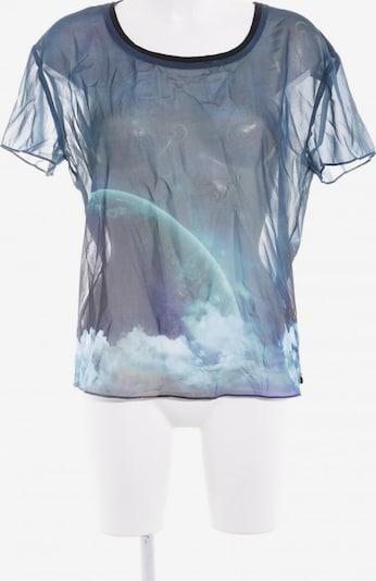 MAISON SCOTCH T-Shirt in XS in himmelblau / petrol / dunkelgrün: Frontalansicht
