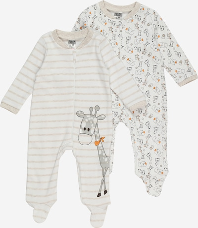 Pijamale Boley pe bej / gri / alb, Vizualizare produs