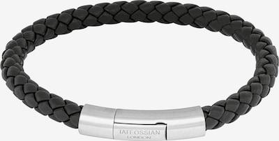 Tateossian London Armband 'Charles' in schwarz / silber, Produktansicht