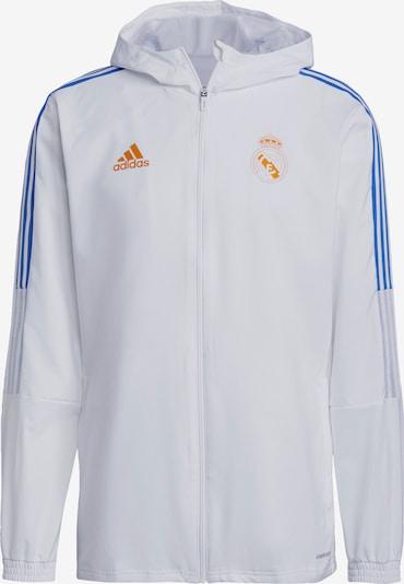 ADIDAS PERFORMANCE Jacke 'Real Madrid' in hellblau / goldgelb / weiß, Produktansicht