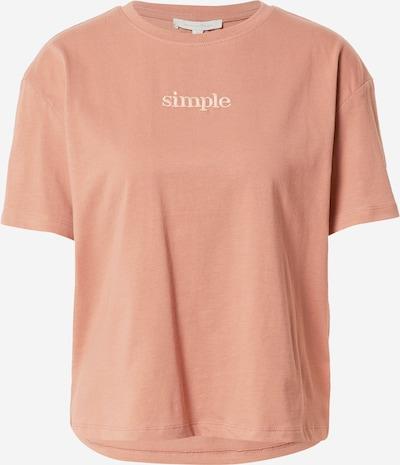 Tricou TOM TAILOR DENIM pe roz pal / alb, Vizualizare produs