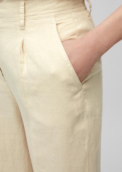 Marc O'Polo Hose in beige / creme, Produktansicht