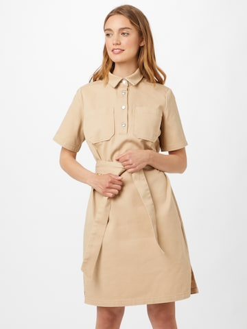 Rochie tip bluză 'JASI' de la minimum pe bej