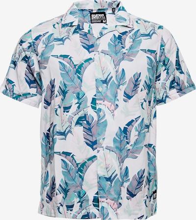 Superdry Chemise 'Hawaiian' en bleu roi / bleu ciel / poudre, Vue avec produit