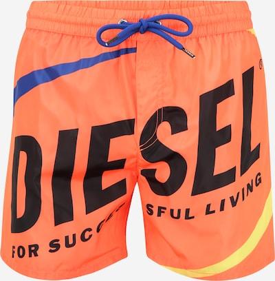DIESEL Kratke kopalne hlače | modra / rumena / svetlo oranžna / črna barva, Prikaz izdelka