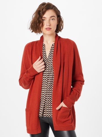 COMMA Knit Cardigan in Red