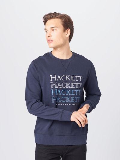 Hackett London Mikina - modrá / námornícka modrá / biela: Pohľad spredu