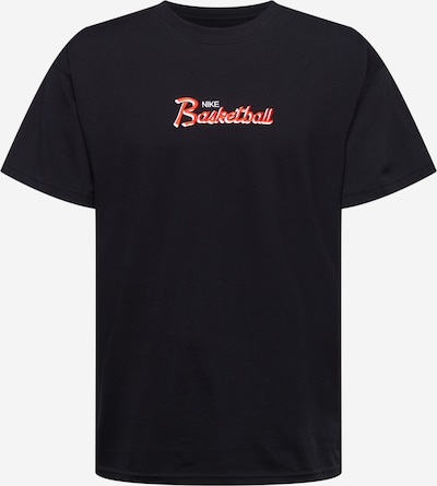Tricou funcțional NIKE pe roși aprins / negru / alb, Vizualizare produs