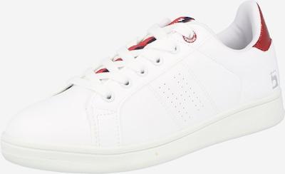 H.I.S Baskets basses en rouge carmin / blanc, Vue avec produit