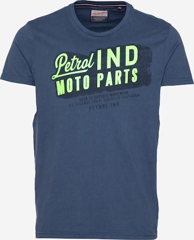 Petrol Industries T-Shirt in taubenblau / limette / schwarz, Produktansicht