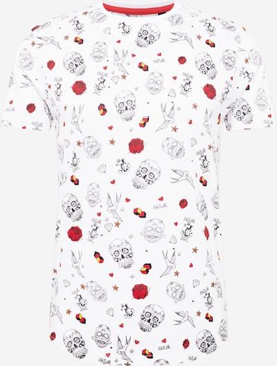 BRAVE SOUL Paita 'CROSBY' värissä punainen / musta / valkoinen: Näkymä edestä